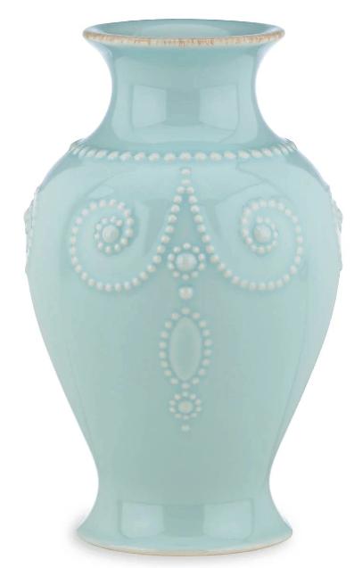 "Lenox  French Perle Ice Blue 8"" Bouquet Vase $24.95"
