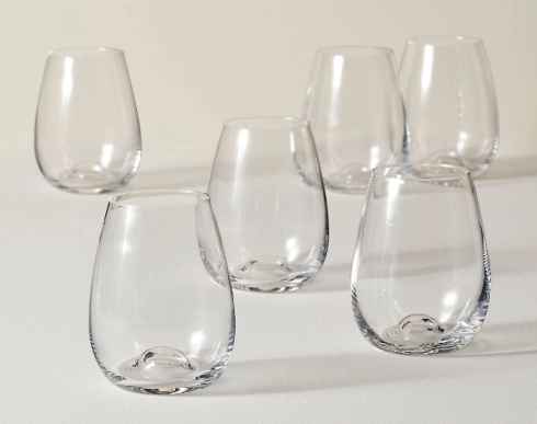 Lenox  Tuscany Stemless Wine Set of Six $49.95