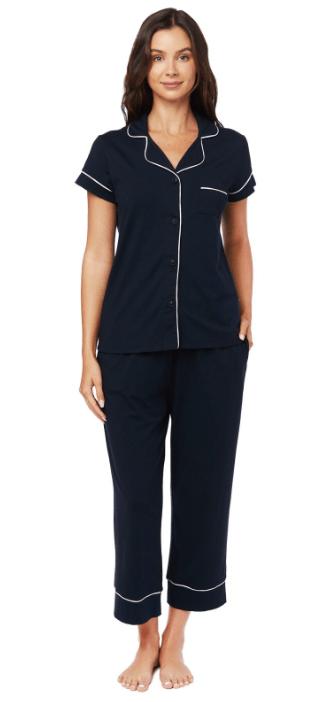 $102.00 Midnight Capri PJ Set - Large