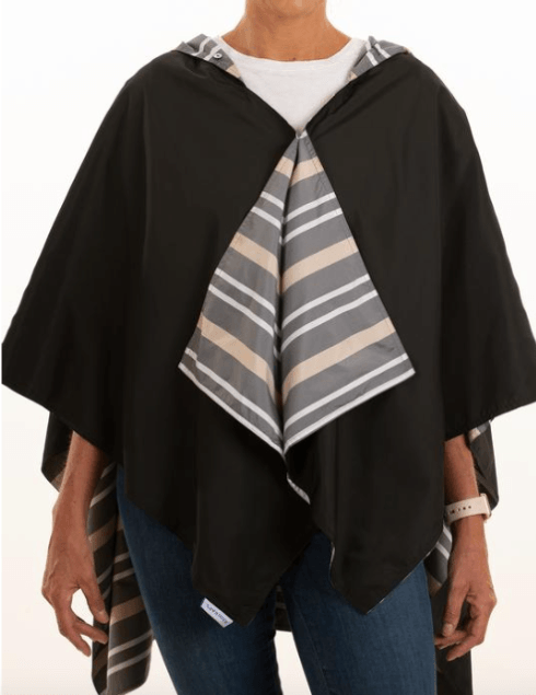 $65.00 Hooded Black & Cabana Stripe
