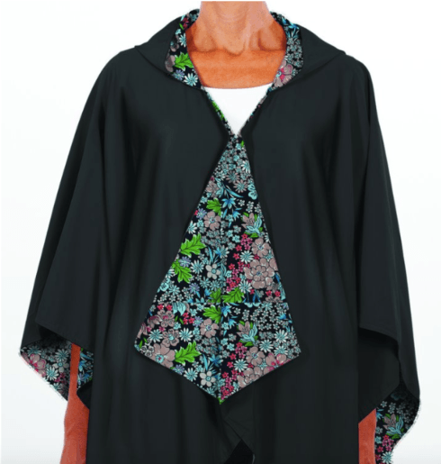 $65.00 Hooded Black & Floral