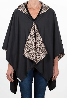 $65.00 Hooded Black & Leopard