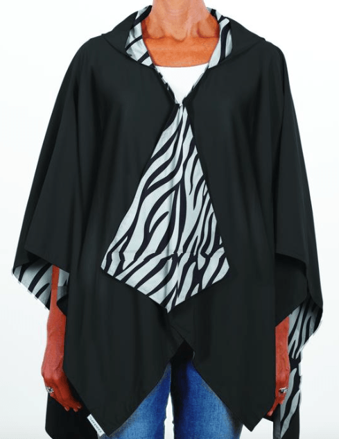 $65.00 Hooded Black & Zebra