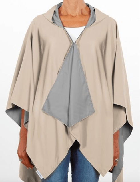 $65.00 Hooded Camel & Light Gray