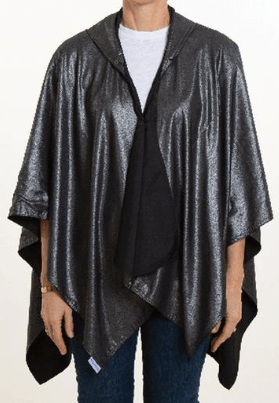 $65.00 Hooded Metallic & Black