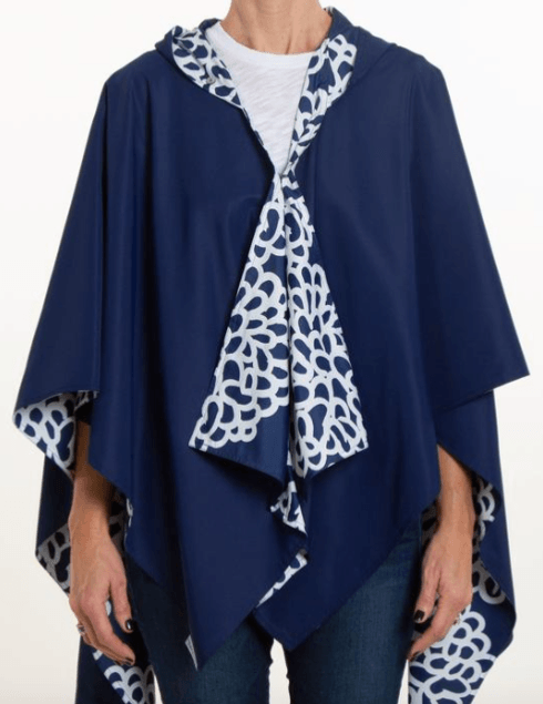$68.00 Hooded Navy & Navy Clouds