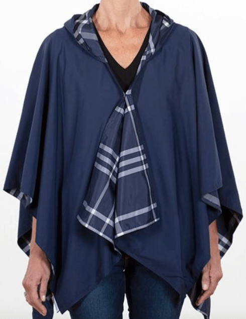 $65.00 Hooded Navy & Navy Plaid