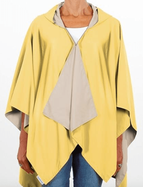 $65.00 Hooded Yellow & Camel