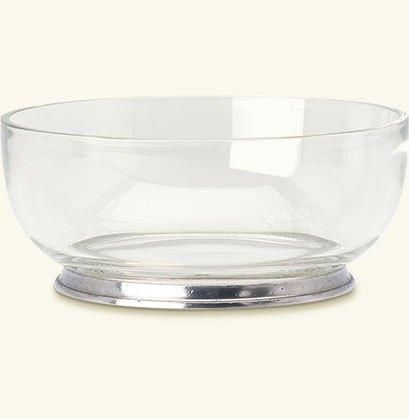 "Match   Round Crystal Bowl - 8.3"" $195.00"