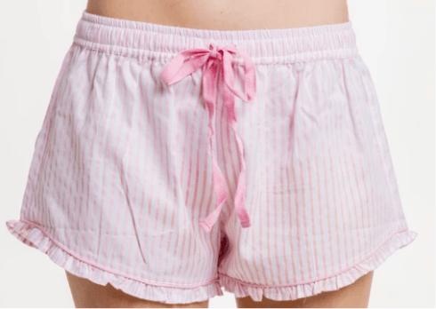 Ruffle Short - Pink Stripe