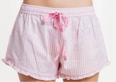 Ruffle Short - Pink Stripe collection with 3 products