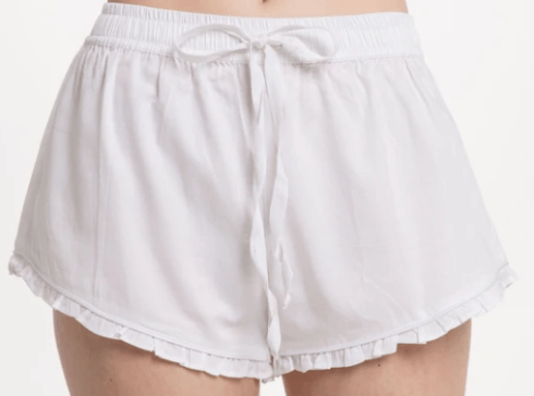 Ruffle Short - White collection with 3 products