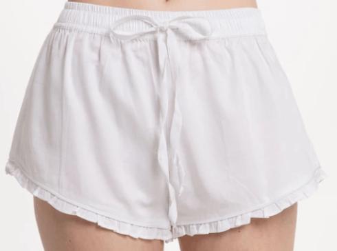 Ruffle Short - White