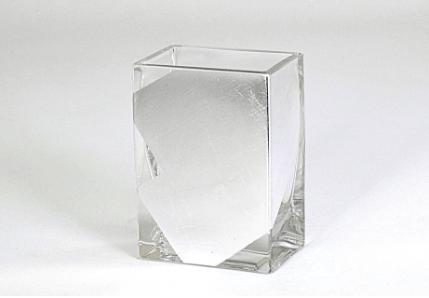 """Tamara Childs  Vases - Slash Short Vase - 4""""x4""""x2"""" - Silver $38.00"""