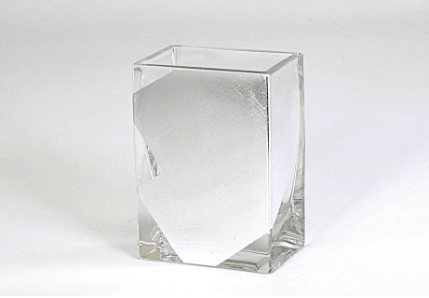 "Tamara Childs  Vases - Slash Short Vase - 4""x4""x2"" - Silver $38.00"