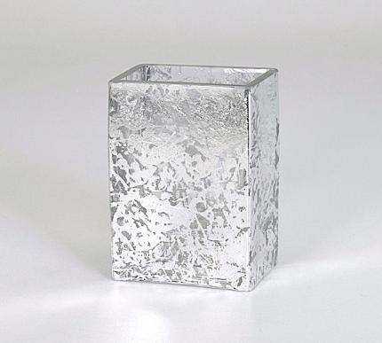 "Tamara Childs  Vases - Wabi Sabi Short Vase - 4""x4""x2"" - Silver $38.00"