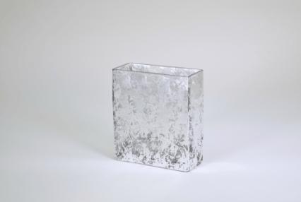 "Tamara Childs  Vases - Wabi Sabi Rectangular Vase - 6""x5""x2.5"" - Silver $50.00"