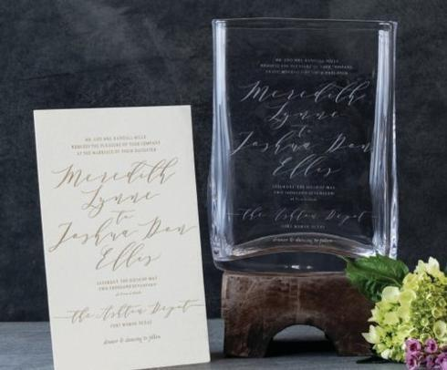 Simon Pearce   Wedding Invitation Vase $320.00