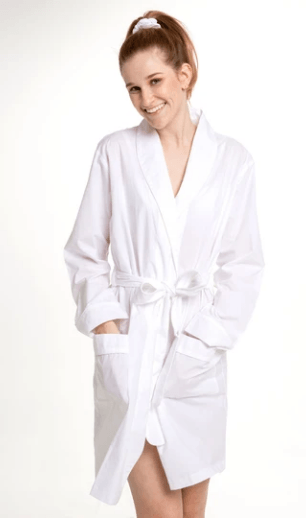 Cotton Robe - White