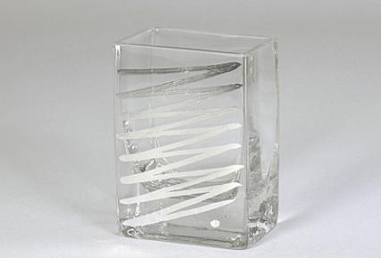 """Tamara Childs  Vases - Zig Zag Short Vase - 4""""x4""""x2"""" - Silver $38.00"""