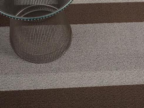 $50.00 Shag Bold Stripe Ash Floor Mat 18 x 26