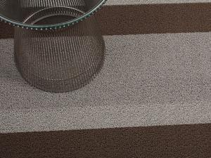 $76.00 Shag Bold Stripe Ash Floor Mat 24 x 36