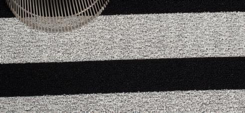 $150.00 Shag Bold Stripe Black/White Big Floor Mat 36 x 60