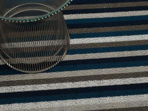 $75.00 Shag Even Stripe Marine Floor Mat 24 x 36
