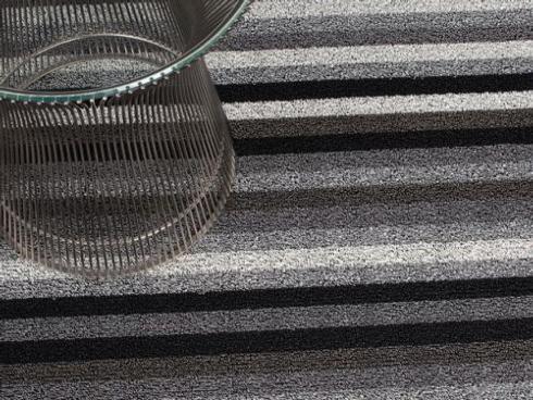 $150.00 Shag Even Stripe Mineral Floor Mat 36 x 60