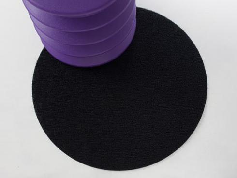 "$50.00 Shag Dot 24"" Round Black Floor Mat"