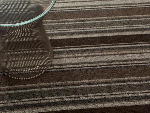 $50.00 Shag Mixed Stripe Oak Floor Mat 18x28