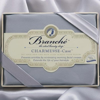 $107.00 Charmeuse Pillow Case, Silver, Queen/Standard