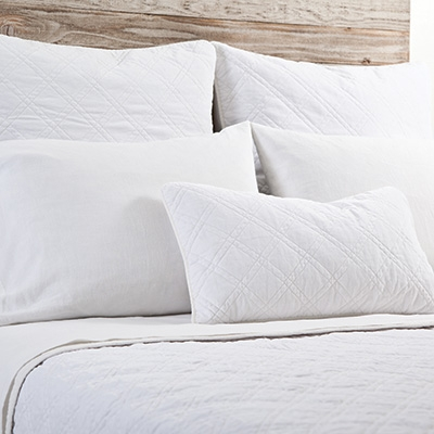 $565.00 Brussels Coverlet, White, King