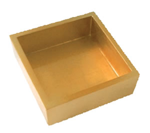 $27.50 Gold Lacquer Cocktail Napkin Holder