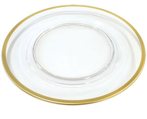 $20.00 Acrylic Charger with Gold Rim
