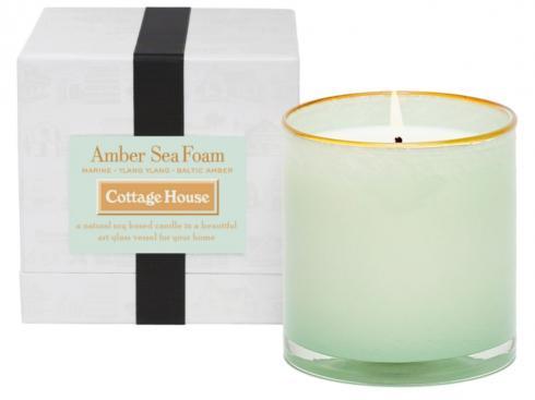 $60.00 Amber Sea Foam/Cottage House Candle