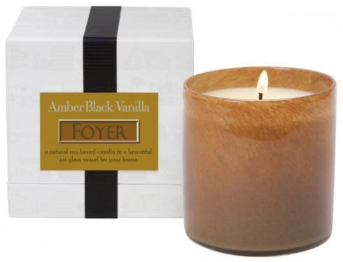 $60.00 Amber Black Vanilla/Foyer Candle