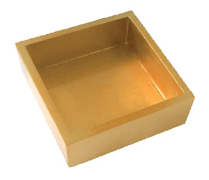 $35.00 Gold Lacquer Luncheon Napkin Holder