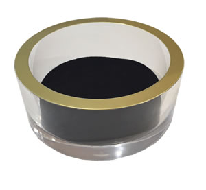 $20.00 Acrylic Wine Coaster with Gold Rim