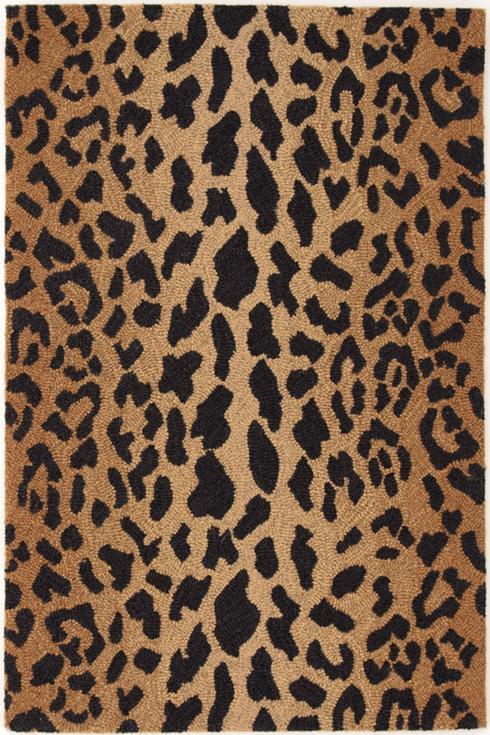 $318.00 Leopard Rug, Wool, 2.5\' x 8\'