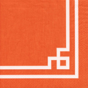$6.00 Rive Gauche Orange Paper Cocktail Napkins (20 per Package)