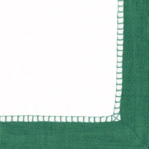 $6.00 Linen Emerald Paper Cocktail Napkins (20 per Package)
