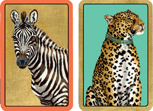 $16.50 Large Type Wild Playing Cards (2 Decks per Box)