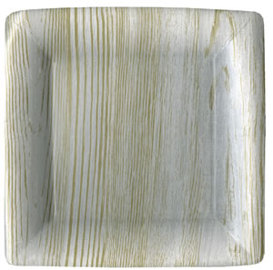 $7.00 Birch Faux Bois Paper Dinner Plates (8 per Package