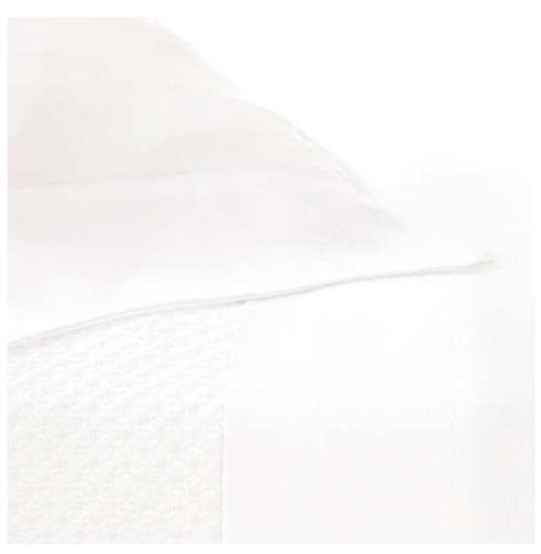 $286.00 Silken Solid White Sheet Set, Queen