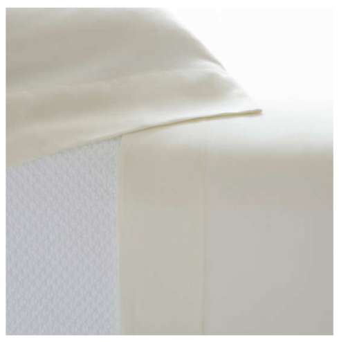 $336.00 Silken Solid Ivory Sheet Set, King