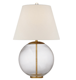 $474.50 Morton Table Lamp in Crystal with Linen Shade