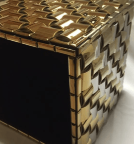 Gold, Silver & Cube Table