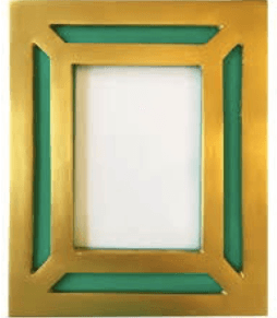 $89.00 BENSON FRAME SHAGREEN WITH BRASS OVERLAY, BLUE TURQUOISE, 5 X 7