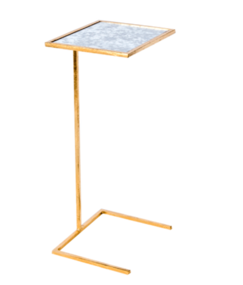 Jade Exclusives   Gold Leaf Square Cigar/Cocktail Table $225.00